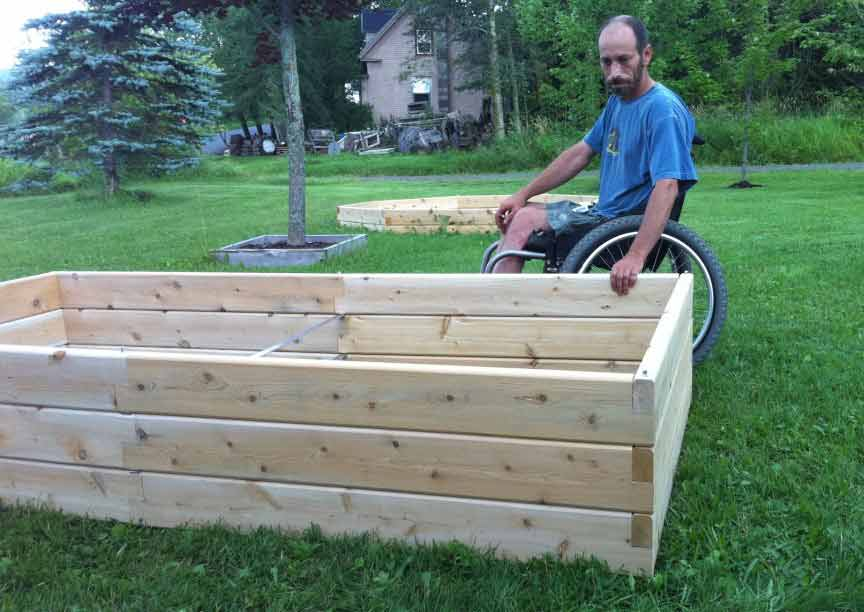 Etonnant Dave Ciliberto With Raised Garden Bed Hadicap Accessible