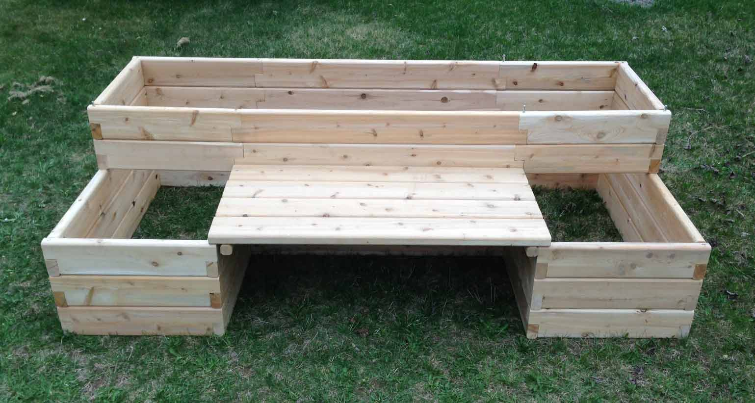 4 X 8 Raised Garden Bed With Bench ...