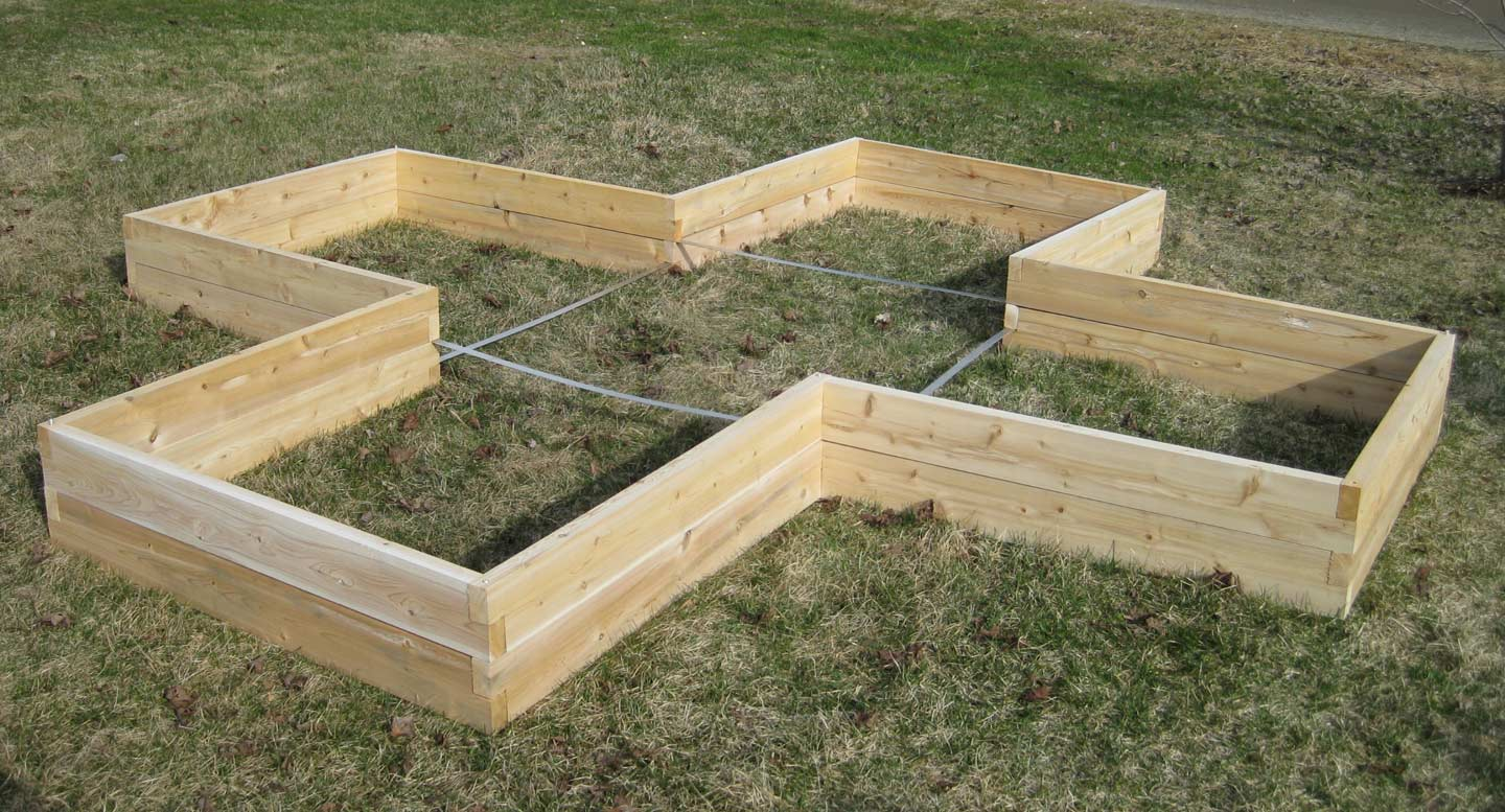 Gardening on pinterest raised beds raised garden beds for Garden design kits