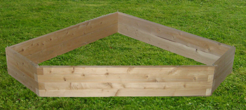 5 Sided Corner Raised Garden Bed