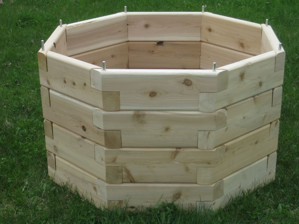 raised garden bed octagon