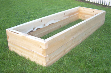 Window boxes and Raised Garden Beds made from cedar